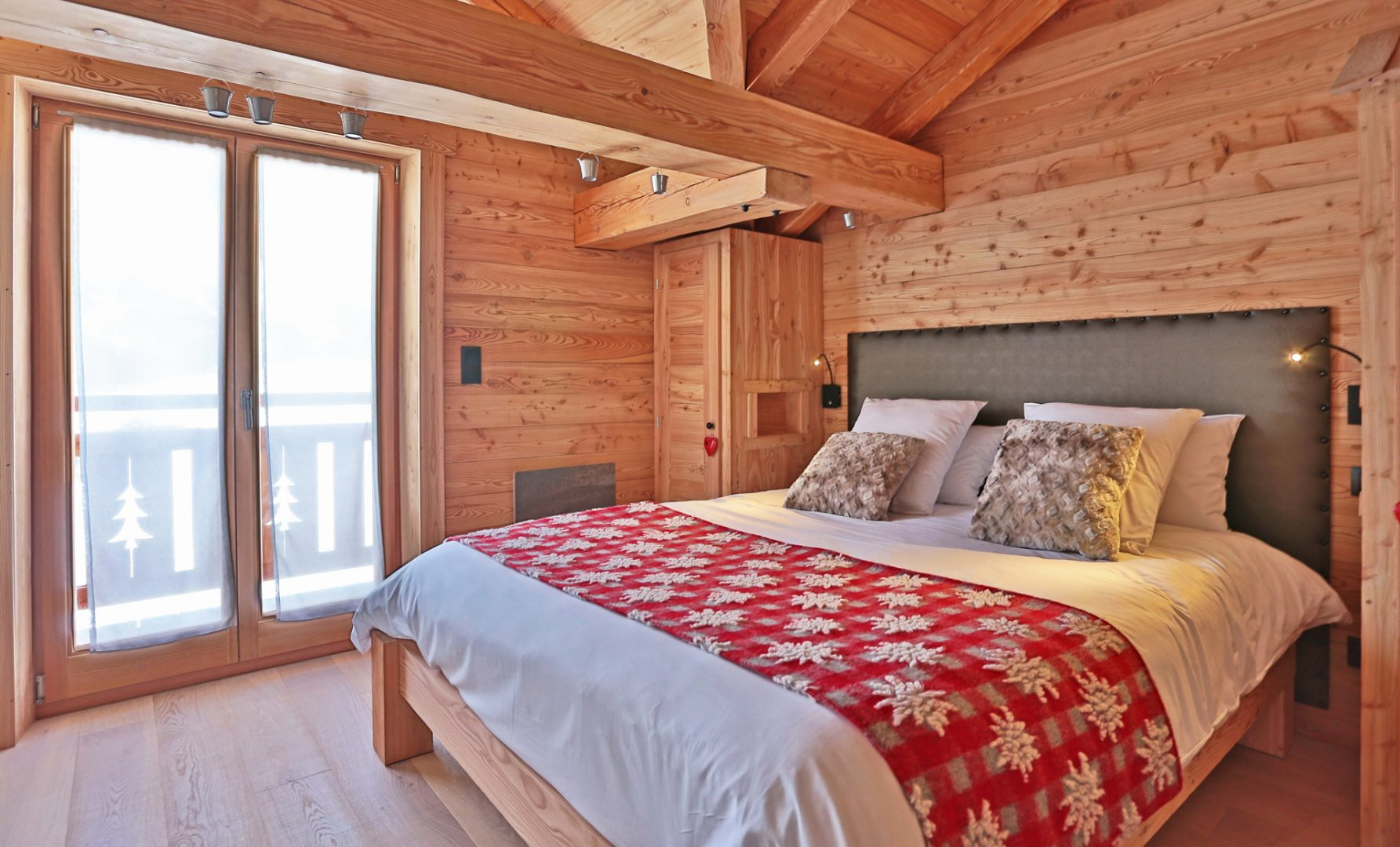 Chalet chambre avec balcon